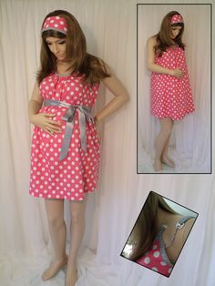 Pink Maternity Hospital Gown, delivery nursing gown breastfeeding gown