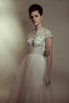 Mad Men inspired photoshoot, by vintage bridal wear specialist, Heavenly Vintage Brides....