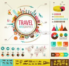 Travel and tourism infographics with data icons, elements — Stock Illustration #22670305