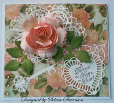 This is a pretty peach card.