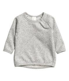 Sweatshirt med neps   Gråmelerad   Barn   H&M SE