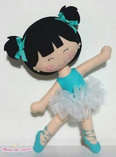 BAILARINA Doll Crafts, Diy Doll, Felt Crafts Patterns, Fall Coloring Pages, Felt Fairy, Cute Piggies, Operation Christmas Child, Soft Dolls, Felt Toys