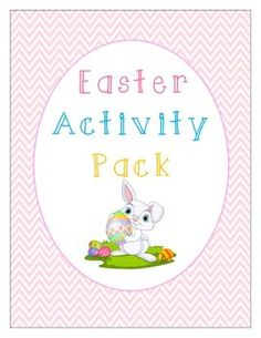 Easter Activity Pack: word search, word scramble, acrostic poem