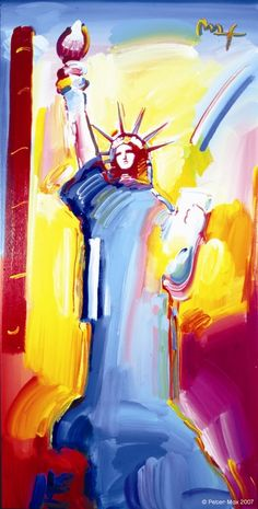 Peter Max -- Statue of Liberty (just purchased this!)