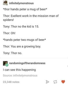 This would TOTALLY happen Loki, Thor, Animation Character, Small Backyards, Wedding Ceremonies, American Kitchen, Wine Corks, African Americans, Gypsy Fashion