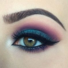 Blue and Plum w/winged liner
