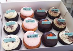 Corporate Cupcakes by The Classic Cupcake Co. Sic Cups, Toni And Guy, Cake & Co, Yummy Cupcakes, Cupcake Ideas, Cake Cookies, Cheesecake, Classic, Desserts