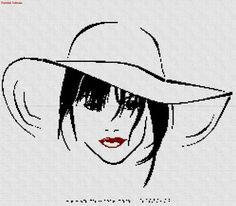 Con sombrero en punto cruz