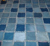 I haven't made a denim rag quilt yet. I am starting to save old ... : blue jean rag quilt - Adamdwight.com