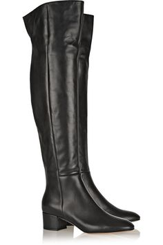 Gianvito Rossi - Leather Over-the-knee Boots - Black - IT36