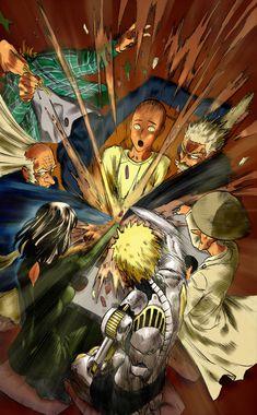 Colored the hot pot showdown from chapter & Manga One Punch Man 1, One Punch Man Funny, Saitama One Punch Man, One Punch Man Anime, Opm Manga, Manga Anime, Anime One, Manga Art, Gorillaz