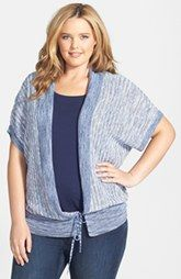 Lucky Brand Space Dyed Shrug (Plus Size)
