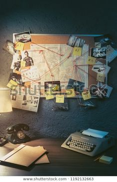 Find Detective Board Evidence Crime Scene Photos stock images in HD and millions of other royalty-free stock photos, illustrations and vectors in the Shutterstock collection. Thousands of new, high-quality pictures added every day. Escape Room, Perito Criminal, Detective Aesthetic, High Contrast Images, New Retro Wave, Photo Stock Images, Stock Photos, Future Jobs, 1980s
