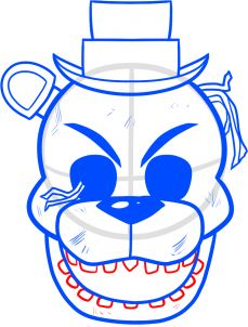 How to Draw Golden Freddy from Five Nights at Freddys