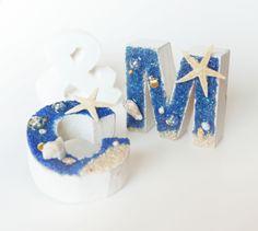 マリンのイニシャルオブジェ・「2個分+&」セット(minneウェディング特集) by とびうさ フラワー・ガーデン その他