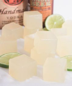 How to make Moscow Mule Jello Shots (and the general proportions for making any flavored alcohol gelatin cubes).:
