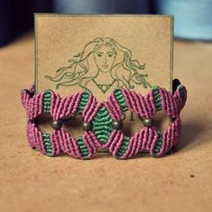 """Another item from the""""SALES"""" Section on our Etsy store! Purple & Green macrame bracelet. #handmade #macrame #bracelet #purple #green #copper #beads #lace #pattern #sales #etsy #feminine #delicate #girly #hippie #tribal #bohemian #natural..."""