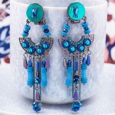Mode Plaqué or blanc//bleu turquoise glands Collier En Cuir Collier Pendentif