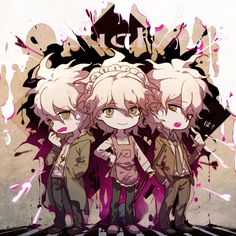 DanganRonpa ⭐ (Super Dangan Ronpa) Komaeda Nagito Anime Manga, Anime Art, Pink Blood, Silver The Hedgehog, Nagito Komaeda, Super Danganronpa, Gekkan Shoujo Nozaki Kun, Crowley, Hinata