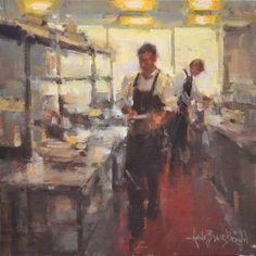 Preparations (16x16 oil on linen)  Anne Blair Brown