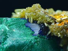 Malachite, Azurite, Pyromorphite / Mineral Friends <3