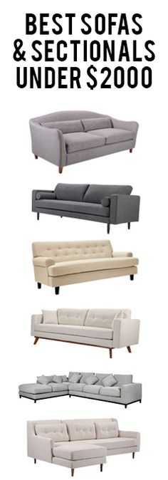Mid-Century Sofas & Sectionals | Under $2000 at capsulehome.com