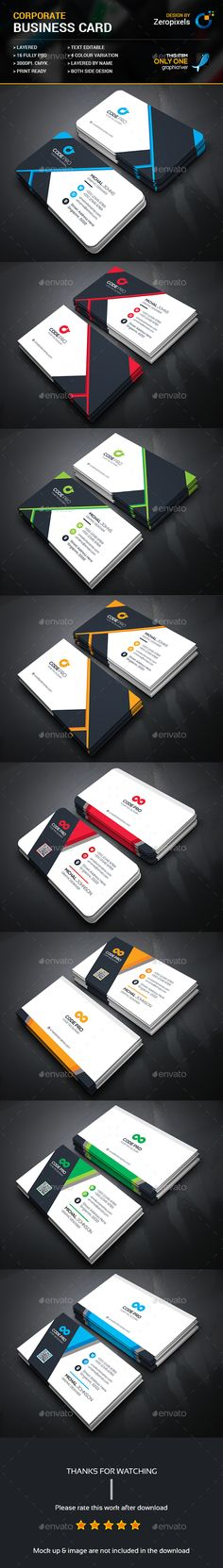 Corporate Business Card Templates PSD Bundle. Download here: https://graphicriver.net/item/corporate-business-card-bundle/17494475?ref=ksioks