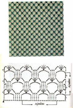 Crochet Lace Edging, Granny Square Crochet Pattern, Crochet Diagram, Crochet Stitches Patterns, Tunisian Crochet, Crochet Chart, Crochet Squares, Love Crochet, Filet Crochet