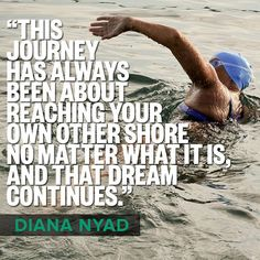 Thirty years after her first attempt, at 64 years old, and on her fifth and final try, Diana Nyad swam 110 unassisted miles from Havana to Key West.