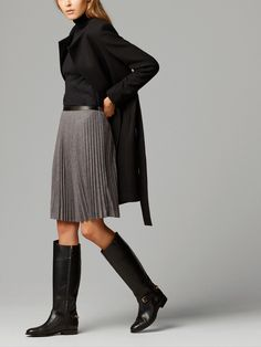 ACCORDION-PLEAT SKIRT by Massimo Dutti