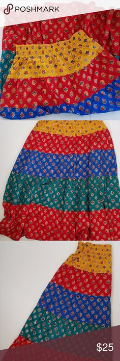 "VTG {CAROLE LITTLE} Boho Gypsy Prairie Skirt Size: Large Color/Design: Floral Applique Style: Full A-Line Mid-Calf Materials: 100% Cotton  Measurements (approximate) Waist (laying flat): 13"" Length: 34"" Width at Hem (laying flat): 55""  Condition: Gently pre-owned with no holes, tears, or stains.  PLEASE CHECK MEASUREMENTS TO ENSURE PROPER FIT!  I am a smoke-free, Dog friendly home! Carole Little Skirts A-Line or Full"