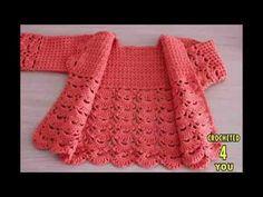 Crochet Baby Cardigan + Diagrams + Pattern Step By Step – baby sweaters Crochet Baby Sweaters, Gilet Crochet, Crochet Cardigan Pattern, Crochet Baby Clothes, Crochet Jacket, Sweater Patterns, Crochet Dresses, Bolero Crochet, Crochet Shrugs