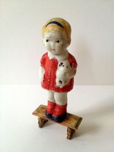 Vintage Bisque Frozen Charlotte Penny Doll on Etsy, $12.99