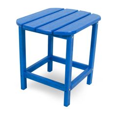 Polywood South Beach Patio Side Table - Pacific Blue, Pac Blue