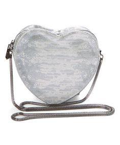48a8ca4c6 Circus by Sam Edelman Silver Sage Heart Crossbody Bag
