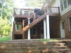 Replacing an old, rickety deck with Trex Composite Deck is our specialty. Click image to see before and after pictures. Trex Decking, Composite Decking, New Deck, Back Deck, Before And After Pictures, Atlanta Georgia, Outdoor Ideas, Decks, Home Remodeling