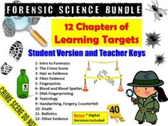 """The first thing students need to learn is what they're supposed to be learning.""--> Learning targets are short term goals that clearly state what you expect students to know and be able to do at the end of the chapter.--> Not only do these help increase student learning, they also help teache... Forensic Science, Science Biology, Life Science, Link And Learn, Learning Targets, Science Notebooks, Middle School Science, Forensics, Science Projects"