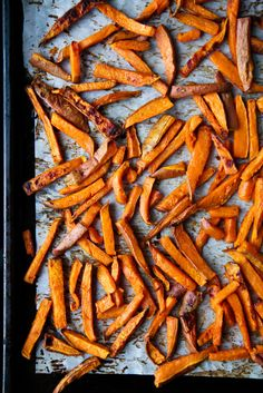 sweet potato fries + herbed tahini sauce