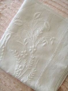 Beautiful white work.  Linens, embroidery