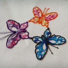 나비 떼샷~ㅎ #태팅레이스 #태팅 #tattinglace #tatting #butterfly