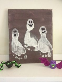 DIY Footprint Ghosts ...no it this didnt catch my eye bc i work for a podiatrist lol