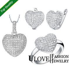 Sparkly Jewelry Set Cubic Zirconia Jewelry by UloveFashionJewelry, $24.83