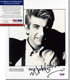 NICK LOWE Hand Signed 8x10 Photograph - PSA/DNA - UACC RD…