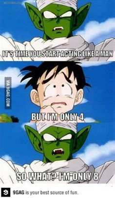 Dragon ball Z saiyan saga and piccolo ages xD Dragon Ball Z, Dc Anime, Anime Manga, Anime Meme, Anime Art, Wallpaper Dbz, Memes Dbz, Dbz Gohan, Gatomon