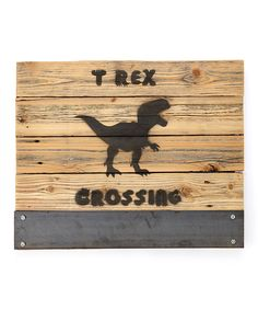 Look at this 'T-Rex Crossing' Wall Art on #zulily today!