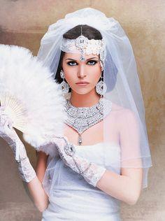 Indian inspired Flapper Bride  #wedding #weddingdress #indianwedding