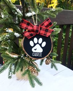 CreativeCraftRooms shared a new photo on Etsy Salt dough Puppy Paw Print ornamentsMake a salt dough puppy paw print ornament for a Christmas keepsake to hang on the tree! Dog Ornaments, Personalized Christmas Ornaments, Diy Christmas Ornaments, Diy Christmas Gifts, Christmas Projects, Holiday Crafts, Christmas Decorations, Christmas Craft Show, Angel Ornaments