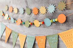 Decorate! Celebrate! Cricut cartridge -- Birthday wishes star banner. Make It Now with the Cricut Explore machine in Cricut Design Space.