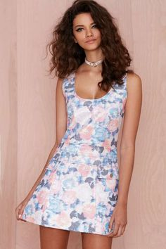 Nasty Gal Go with the Floral Metallic Dress - Day | Going Out | Fit-n-Flare | Dresses | All | Clothes | Dresses