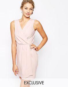 Closet   Closet Sleeveless Wrap Front Pencil Dress at ASOS